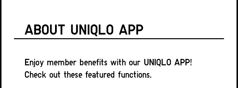 About Uniqlo App
